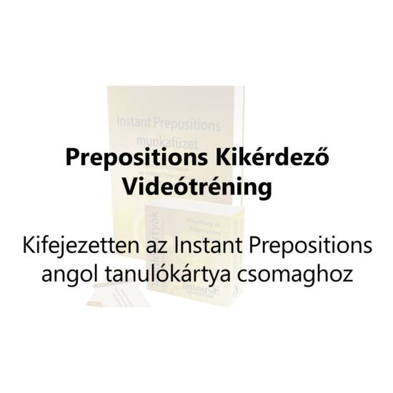 Prepositions Kikérdező