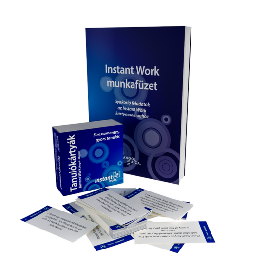 Instant Work Tanulókártyák (angol-magyar)